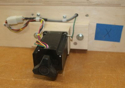 HobbyCNC Customer Build - X axis motor mounting and wiring assy