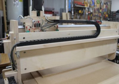 HobbyCNC Customer Build - Y axis gantry rear view with drag chain