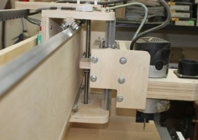 HobbyCNC Customer Build - Z Axis drive assembly and router head mounting