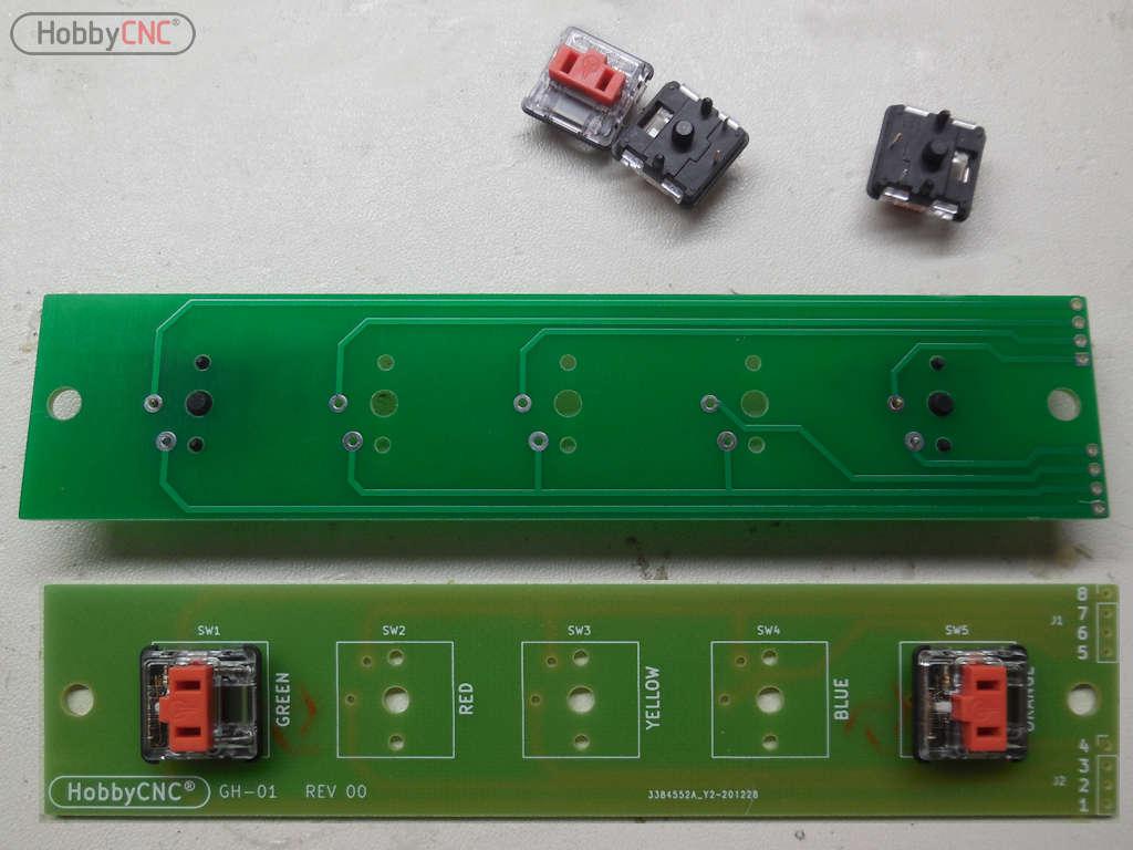 Guitar Hero Mechanical Fret Replacement board