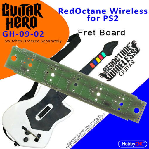 RedOctane X-Plorer for PS2 mechanical switch fret board upgrade, board only.