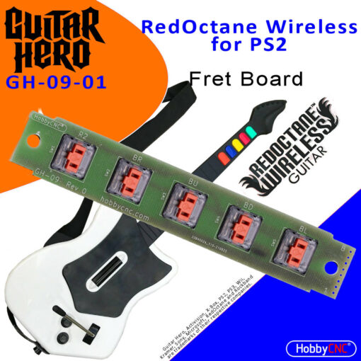 RedOctane X-Plorer for PS2 mechanical switch fret board upgrade, board and 5 switches.