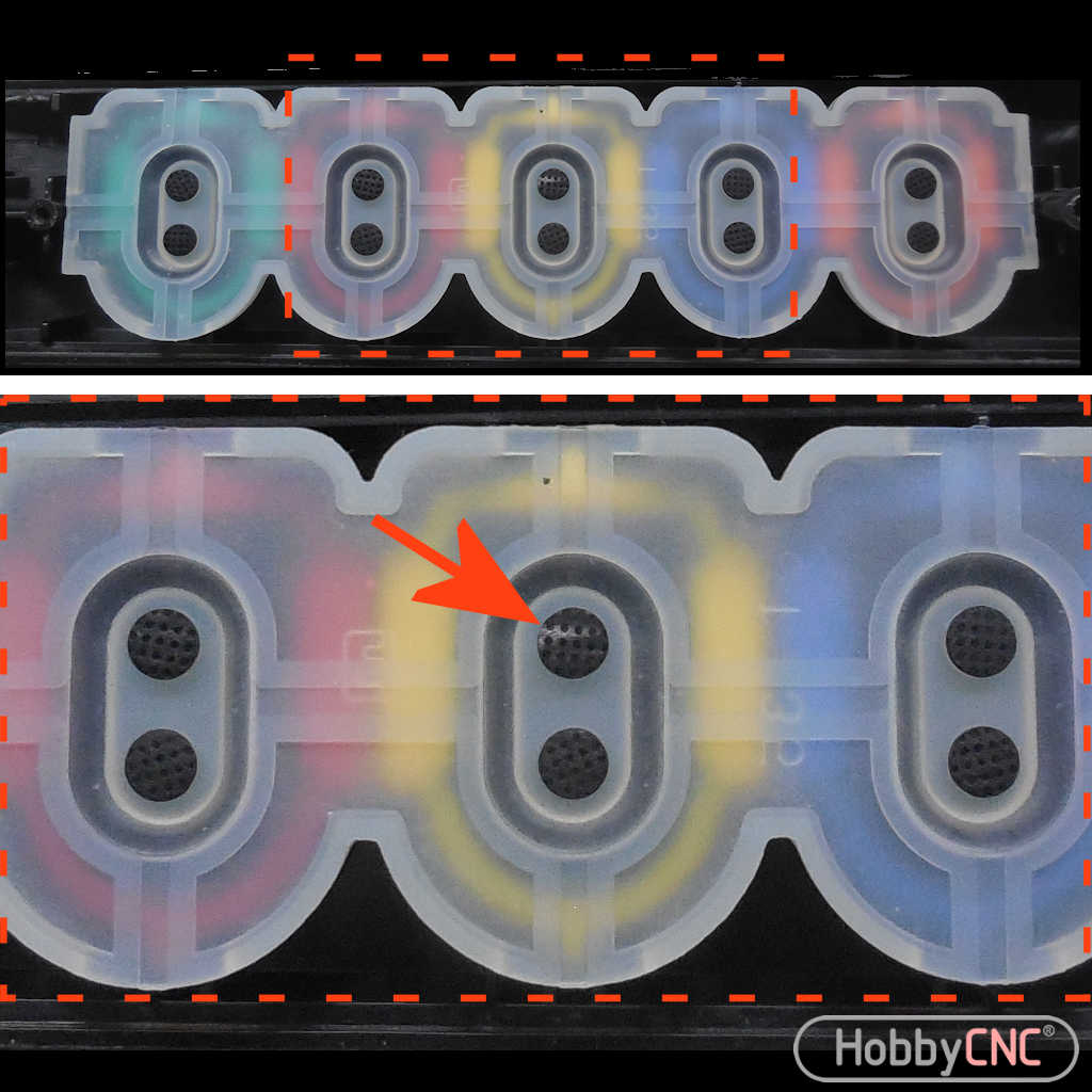 How to clean Guitar Hero Membrane Switch Fret Buttons
