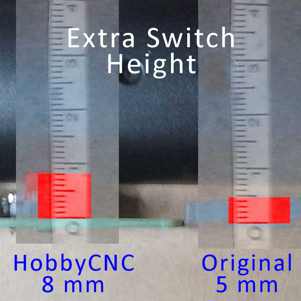 DIfference between HobbyCNC fret button height and 'stock'
