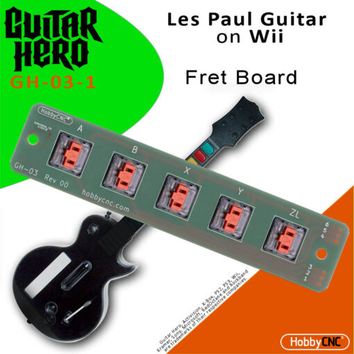 Guitar Hero Les Paul Wii Mechanical Switch Fret Upgrade Kit with Switches