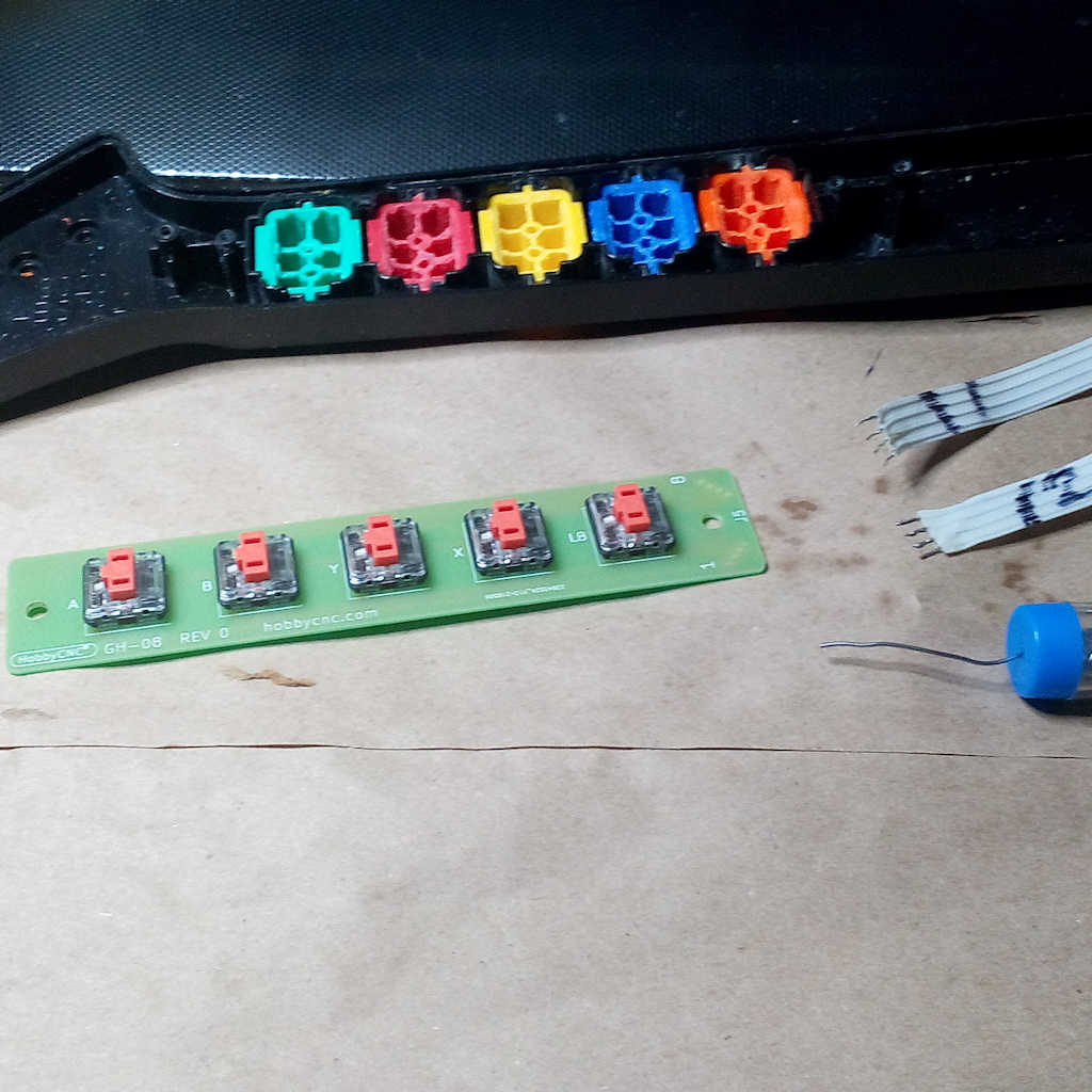 Single modified fret button