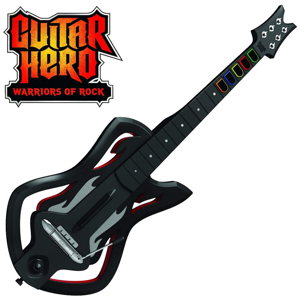 Warriors of Rock guitar - use HobbyCNC GH-10 replacement fret board