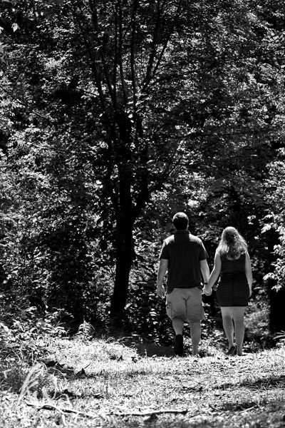 Engagement Photography on a trail.