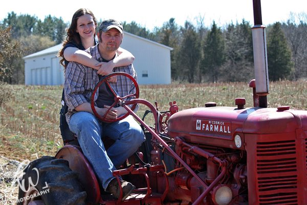 Country engagement photography session in Berks County.