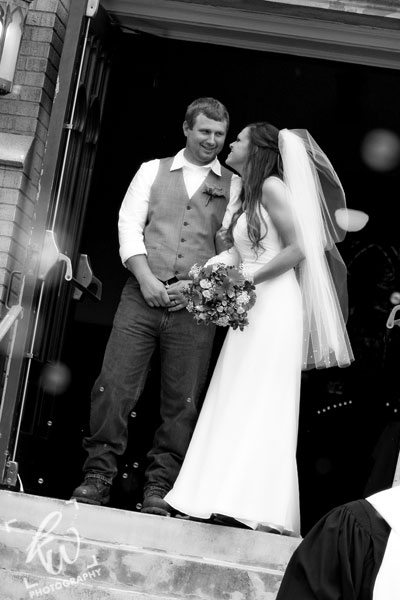 Black and white wedding photo session - Man and Wife!