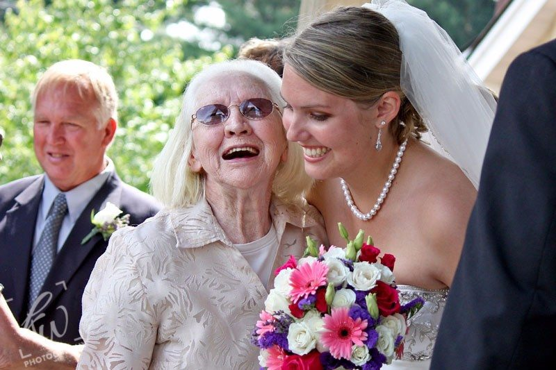 Grandmother and bride at PA wedding
