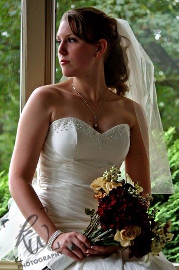 Beautiful bride from wedding photography session
