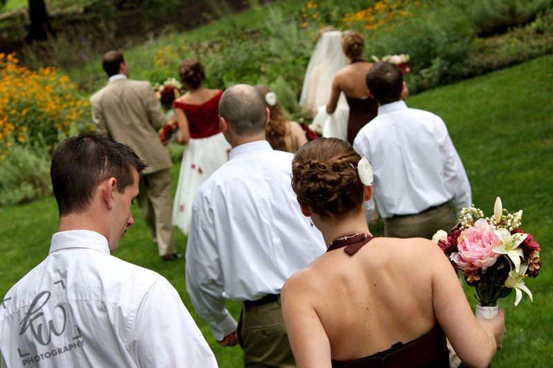 wedding part from wedding photo shoot