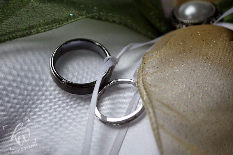 Wedding rings from wedding photography session in PA.