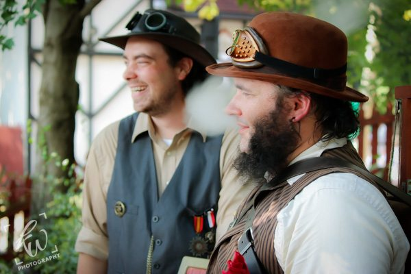 Steampunk buddies at Time Travelers Weekend during the Pennsylvania Renaissance Faire.