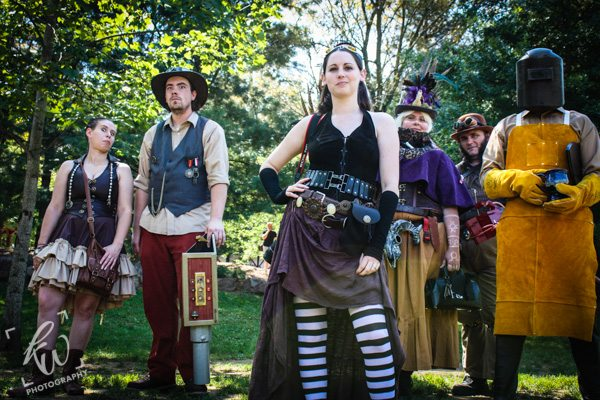 Steampunk band? Looks like an album cover!