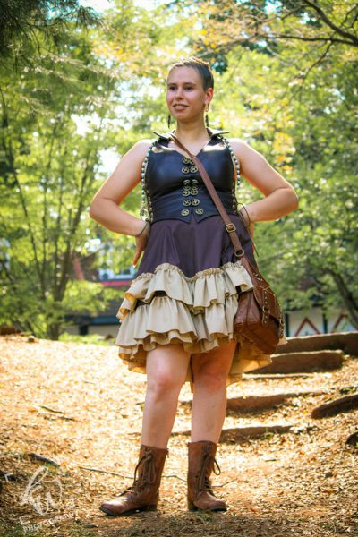 Steampunk girl at Time Travelers Weekend during the PA Ren Faire.