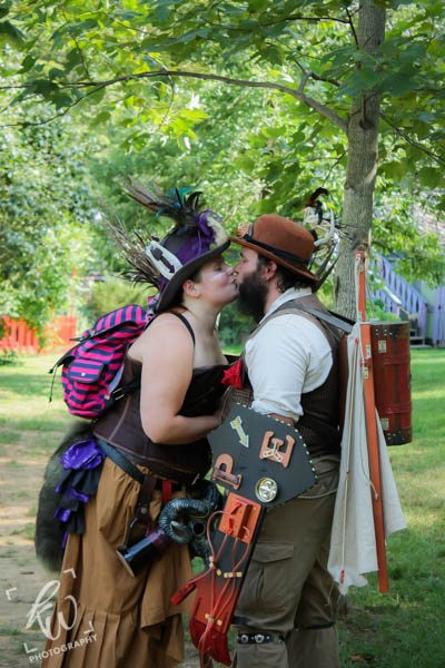 Steampunk engagement photo shoot