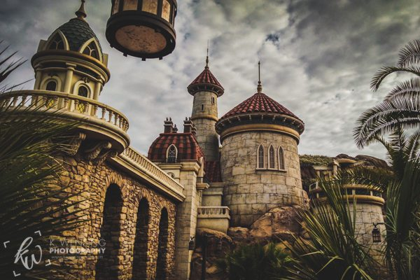 Prince Eric's Castle in Fantasyland of Disney World.
