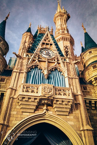 A close up of Cinderella's castle.