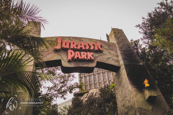 The great front gates of Jurassic Park.