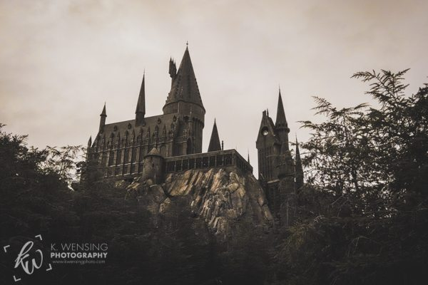 Hogwarts castle in Orlando, Florida.