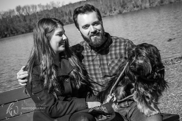 Engagement shoot at Green Lane Park in Pennsylvania.