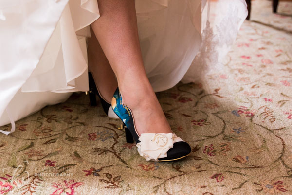 Cinderella bridal shoes!