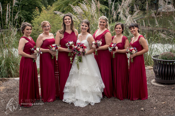 The bride posing with her girls.