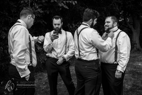 Black and white photograph of groomsmen.