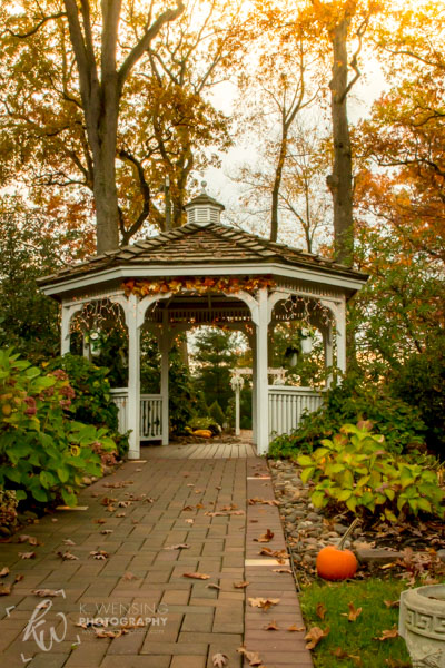 Wedding gazebo in November.