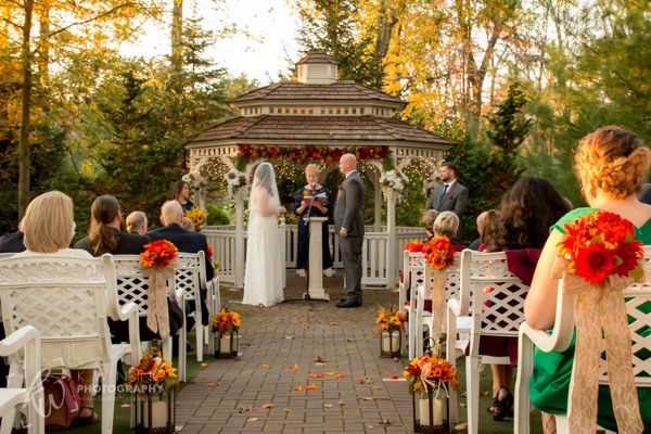 Wedding ceremony at Meredith Manor.