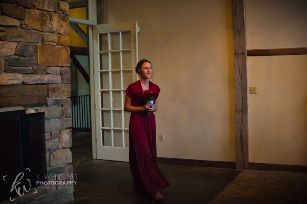 The Matron of Honor making her entrance.