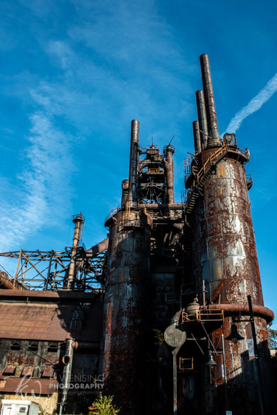 The towering stacks of Bethlehem Steel.