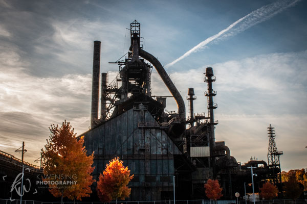 The former Bethlehem Steel plant still stands tall.