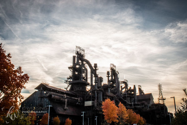 Autumn at SteelStacks.
