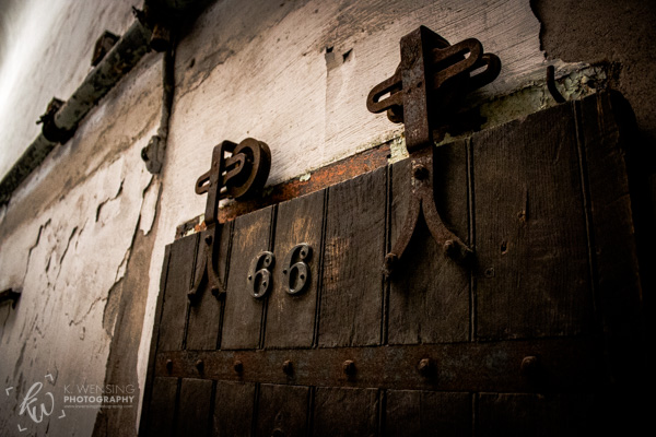 One of the sliding cell doors of the Eastern State Penitentiary.