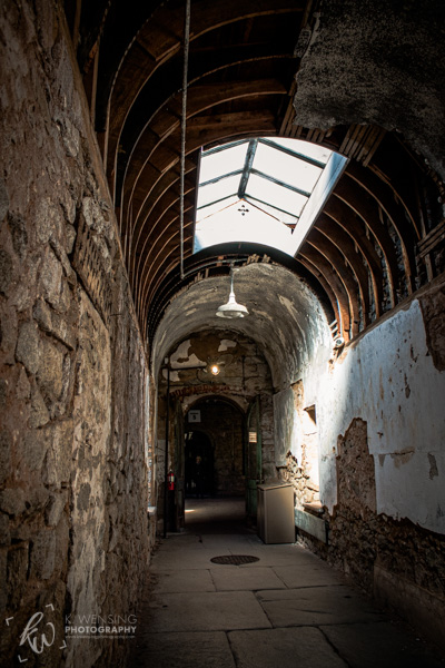 A hall within a Philadelphia penitentiary.