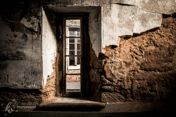 A window of the Eastern State Penitentiary.