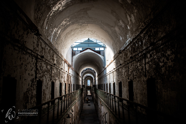 One of the cell blocks of the Eastern State Penitentiary.