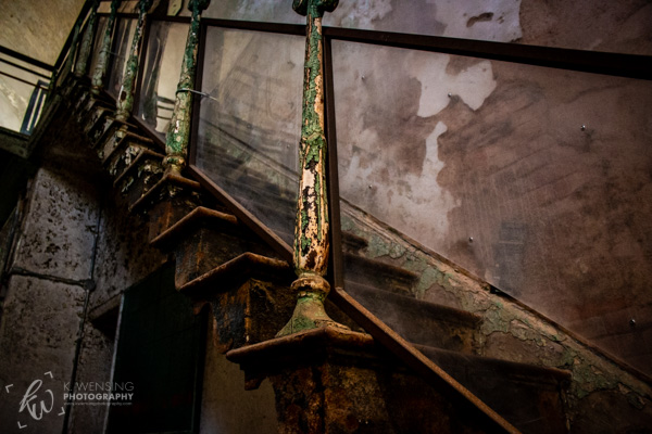 Details of a penitentiary staircase.