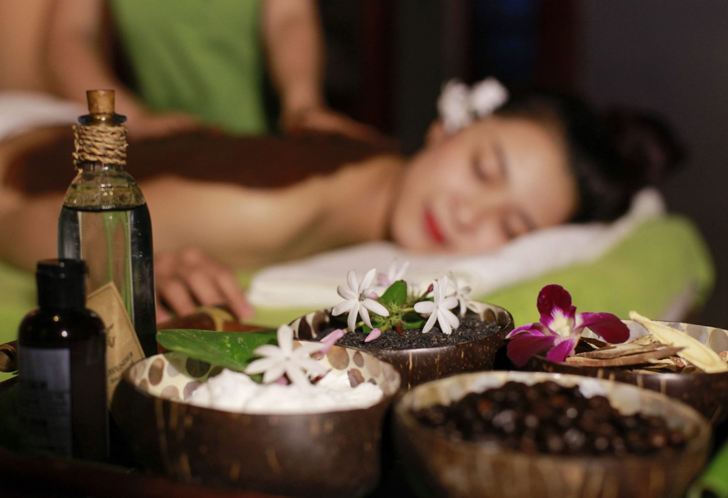 massage scrub flower bath ubud