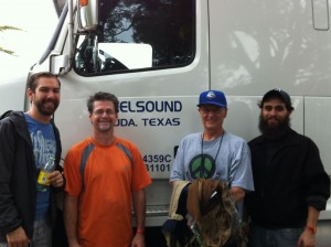 Reelsound mobile audio crew for Austin City Limits Festival 2014.  Will Harrison, Mason Harlow, Malcolm Harper..