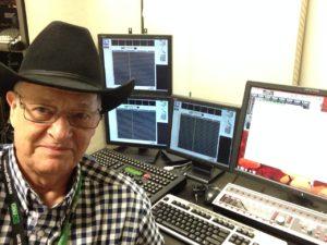 Mixer Malcolm Harper recording on IZ RADAR 72 track DAW system.