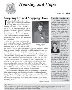 St. Stephen Housing Association News