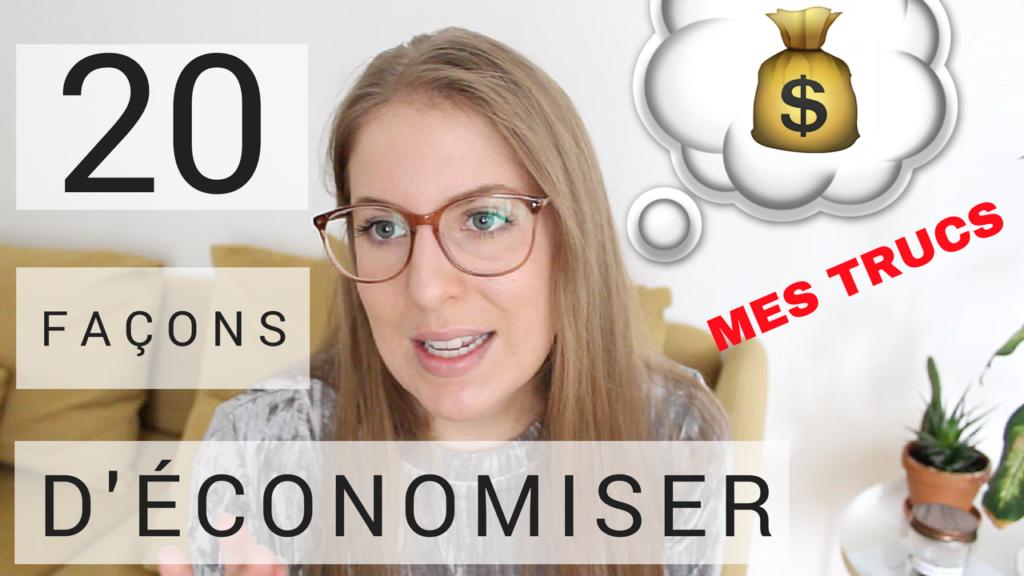20 trucs pour économiser, minimalisme, vicky payeur, youtube