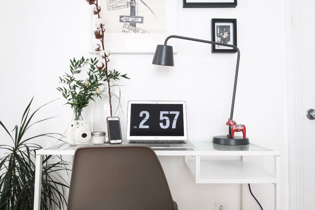 computer, desk, office, ikea, home decor
