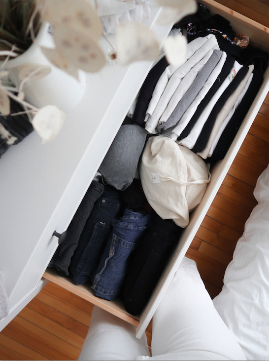mari kondo tiroir minimaliste