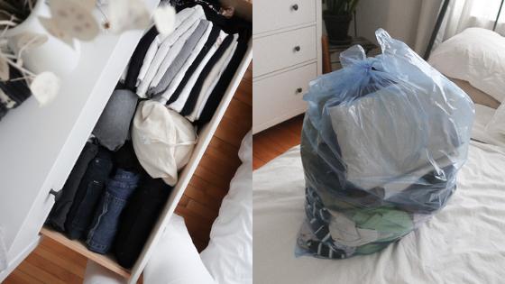 désencombrement garde robe minimaliste marie kondo