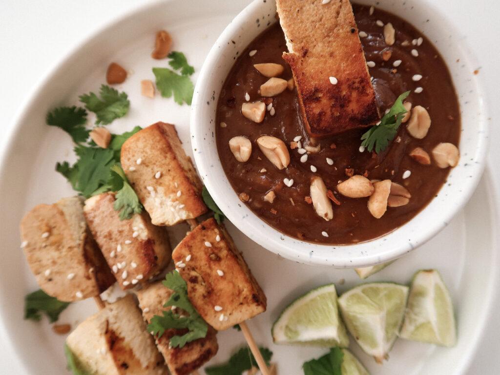 arachides tofu satay sauce arachides